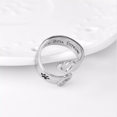 """I Will Love You Forever"" Dog Ring"
