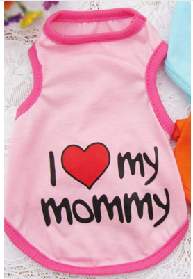 """I heart my Mommy"" Dog Outfit"