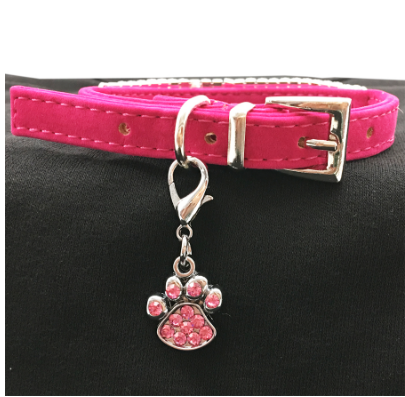 Rhinestone Paw Pet Collar Charm(2 Piece)