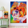 Shih Tzu Oil Canvas Wall Painting