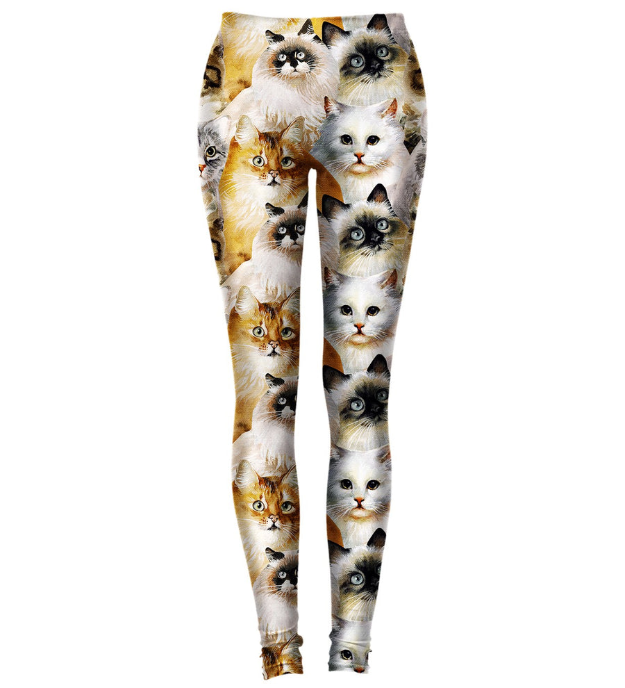 Crazy Cat Lady Yoga Leggins