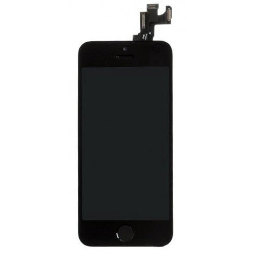 For Apple iPhone SE - LCD Digitizer Touch Screen Complete Assembly - With Spare Parts - Black - OEM