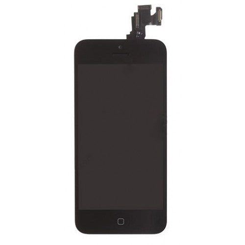 For Apple iPhone 5C - LCD Digitizer Touch Screen Complete Assembly - With Spear Parts - Black - Genuine OEM