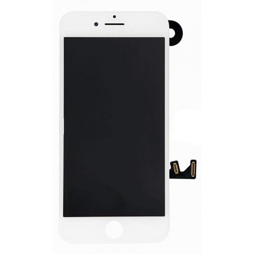 For Apple iPhone 7 - LCD Digitizer Touch Screen Complete Assembly - With Spare Parts - White - OEM