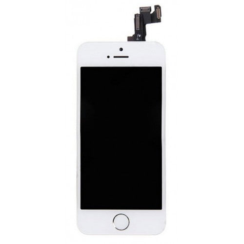 For Apple iPhone 5S - LCD Digitizer Touch Screen Complete Assembly - With Spare Parts - White - OEM