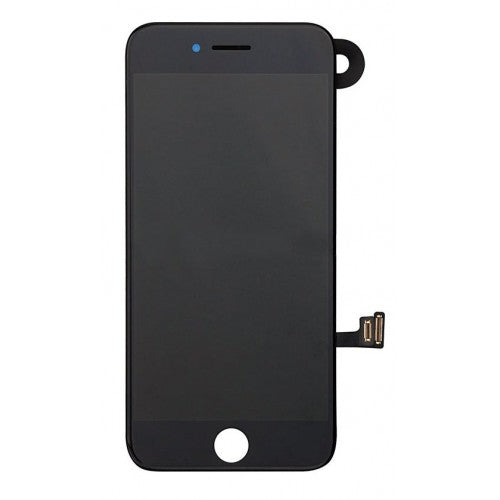 For Apple iPhone 7 Plus - LCD Digitizer Touch Screen Complete Assembly - With Spare Parts - Black - OEM