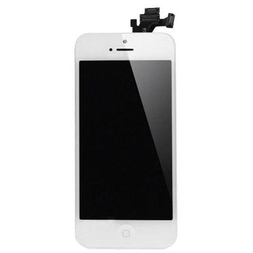 For Apple iPhone 5 5G - LCD Digitizer Touch Screen Complete Assembly - With Spear Parts - White - Genuine OEM