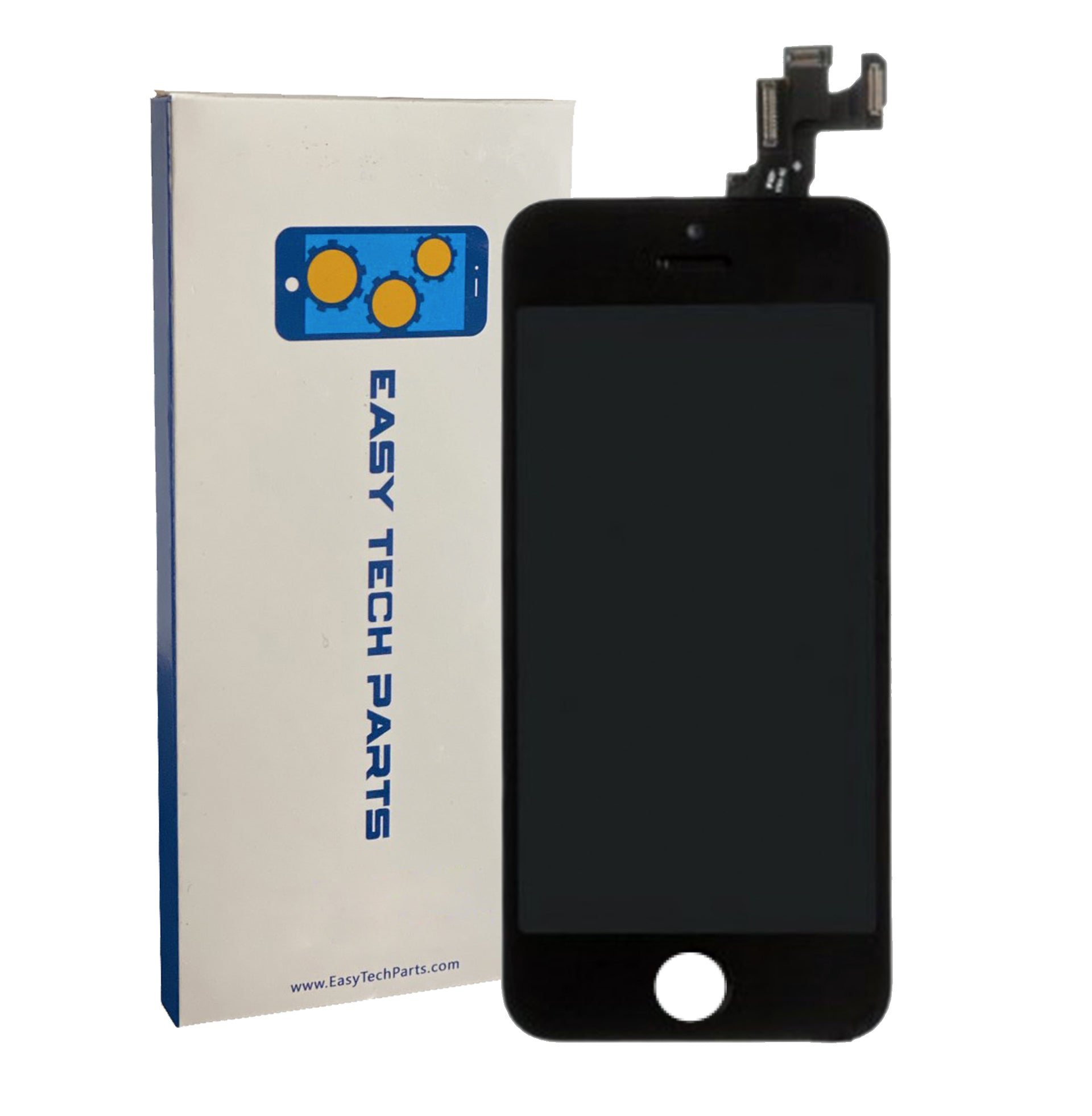 For Apple iPhone 5S - LCD Digitizer Touch Screen Assembly - With Spare Parts (No Home Button) - Black - OEM