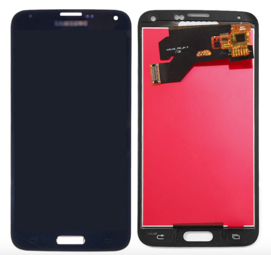 For Samsung Galaxy S5 i9600 - LCD Digitizer Touch Screen Complete Assembly - Black - Genuine OEM