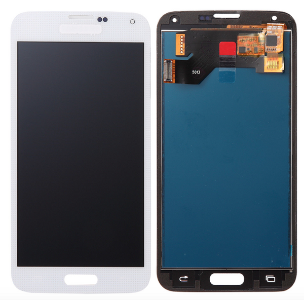 For Samsung Galaxy S5 i9600 - LCD Digitizer Touch Screen Complete Assembly - White -  OEM