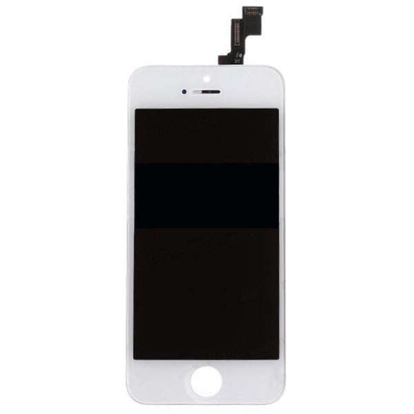 For Apple iPhone 5S - LCD Digitizer Touch Screen Assembly - Without Spare Parts - White - OEM