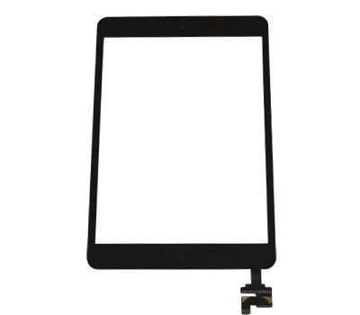 Black iPad Mini Gen 1 & Gen 2 Glass Digitizer With Home Button