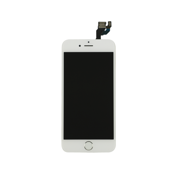 For Apple iPhone 6 6G - LCD Digitizer Touch Screen Complete Assembly - With Spare Parts - White - OEM