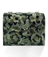 STUDIO ACCESSORIES Black Floral Embellished Clutch Bag