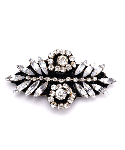 STUDIO ACCESSORIES Black and Silver Crystal Embellished Hairclip for women and girls