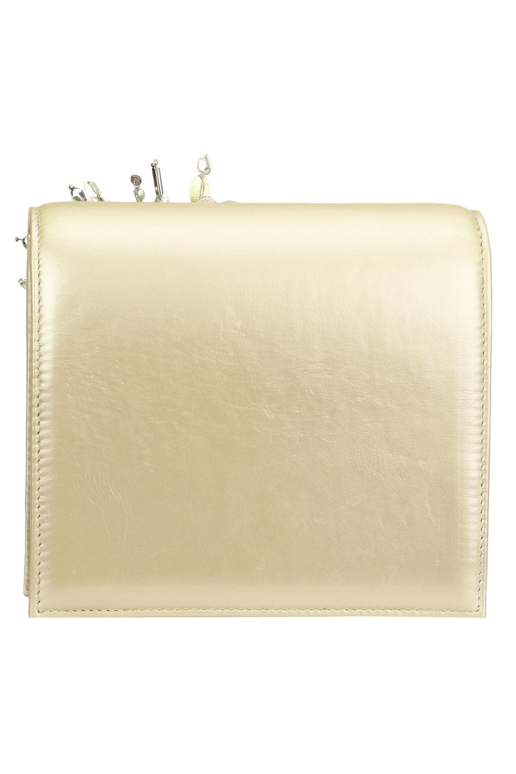 63b5c7483c ... Studio Accessories Beige Crystal and Sequins multicolor floral leather clutch  bag ...