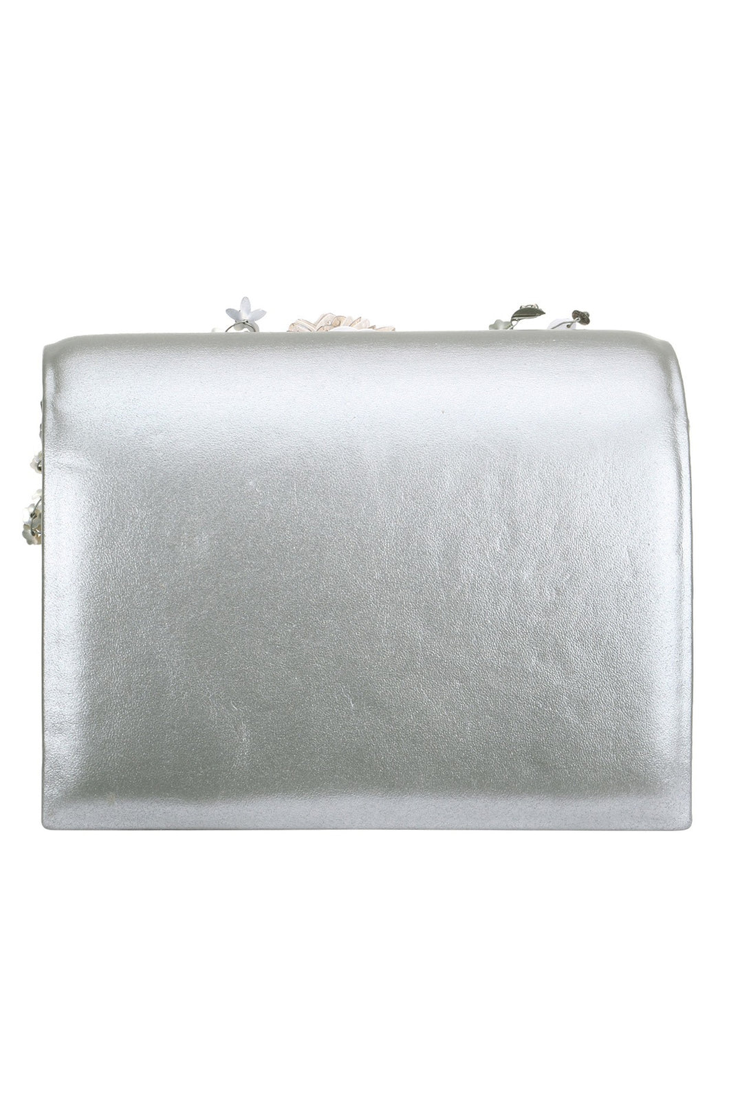 1be72887f7 ... Studio Accessories Grey Crystal and Sequins multicolor floral leather clutch  bag ...