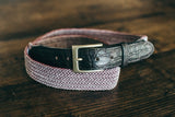 Filbelt - Woven with 5 hole Alligator Tabs