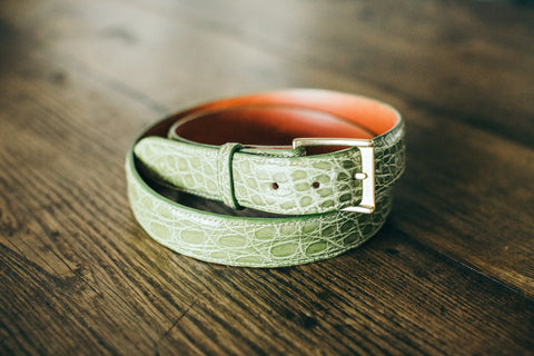The Candler 1+1/4 Inch Width Crocodile Belt