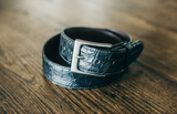 The Candler 1+1/2 Inch Width Crocodile Belt