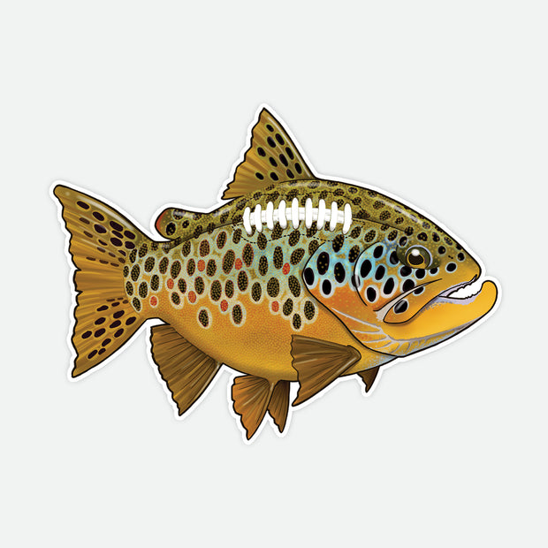 Brown Trout Football Decal