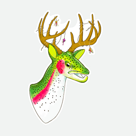 Buck 'Bow Decal