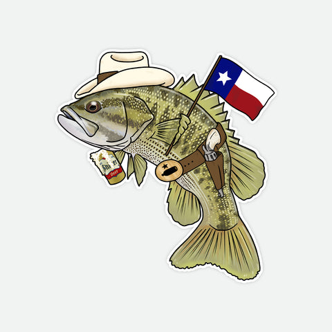 Guadalupe Bass Decal