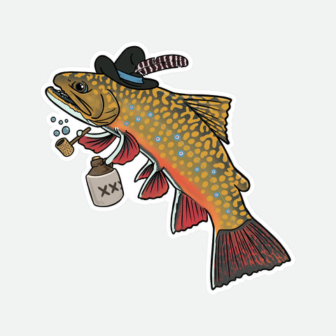 Hillbilly Brook Trout Decal