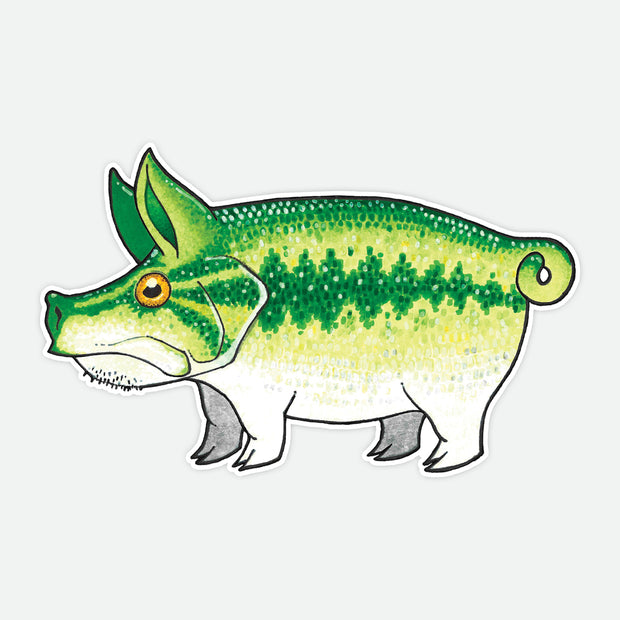 Pig Largemouth Decal