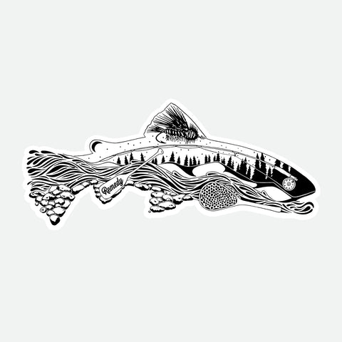 The Remedy - Elements of Fly Fishing Decal