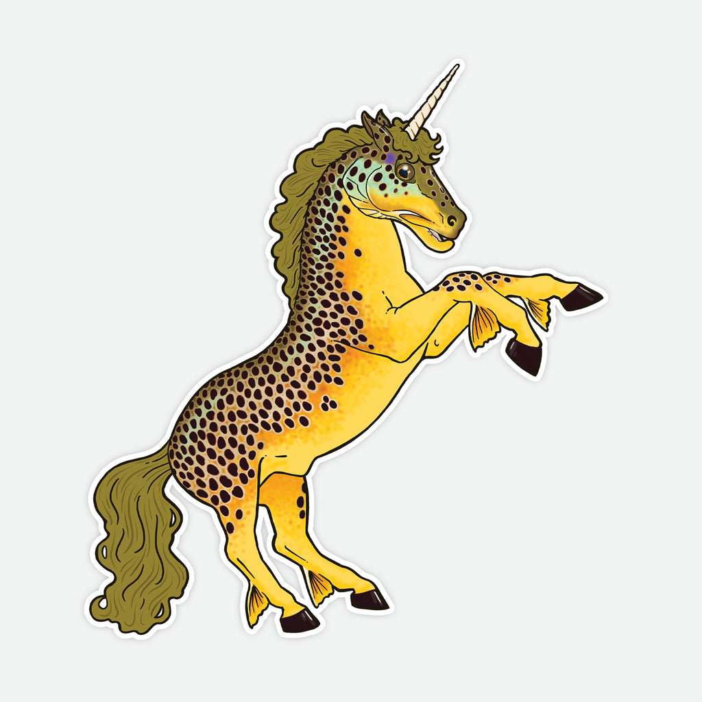 Brown Trout Unicorn Decal