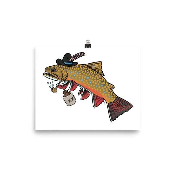 Hillbilly Brook Trout Print