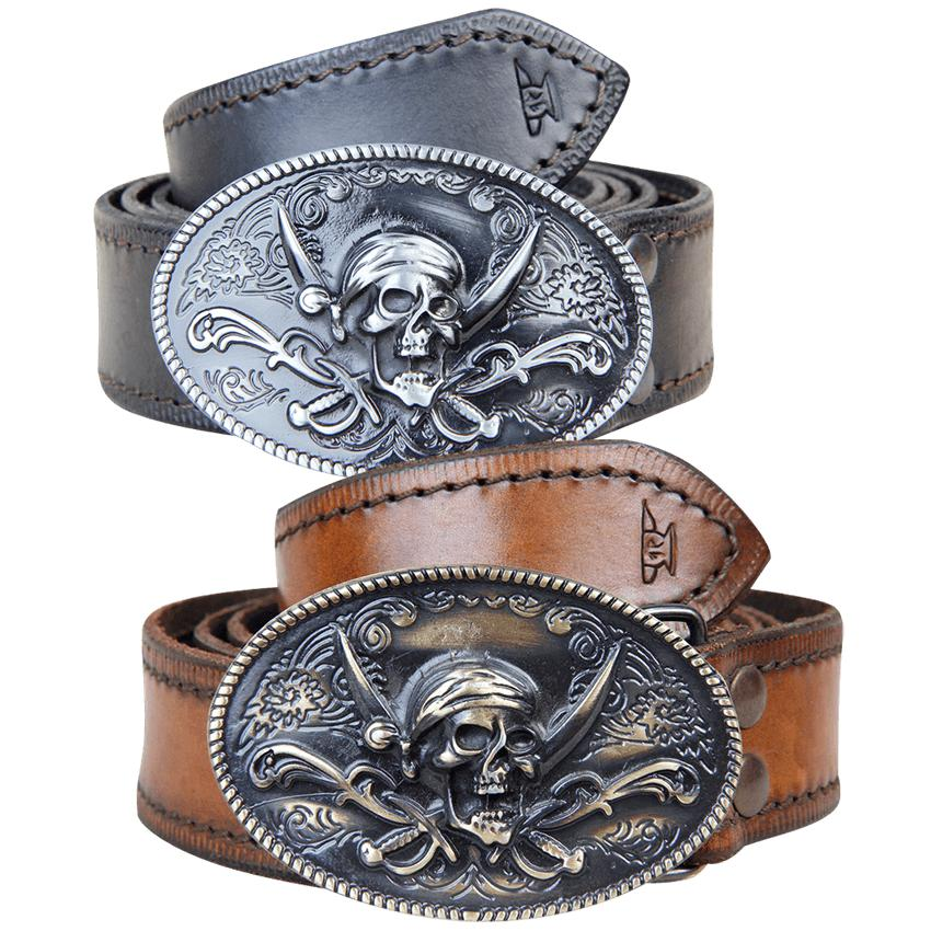 Jolly Roger Buckle Belt-GoblinSmith