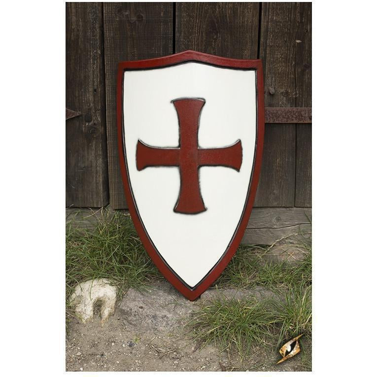 LARP Crusaders Shield - White and Red-GoblinSmith