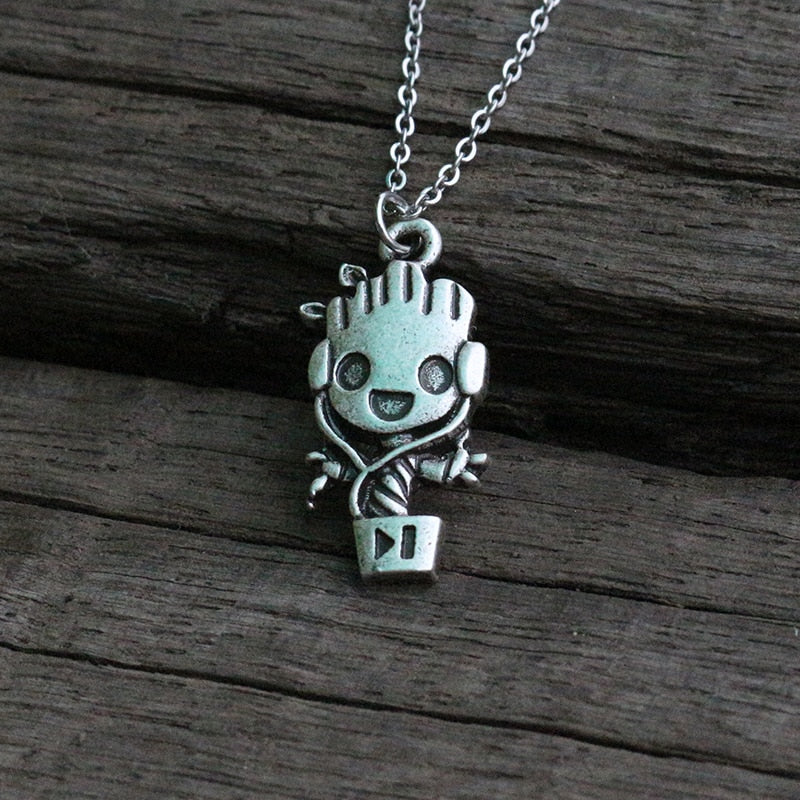 Baby Groot Necklace-GoblinSmith