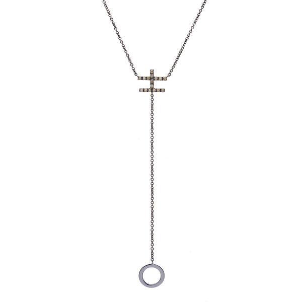 LUCK CIRCLE Y-SHAPED CHAIN NECKLACE