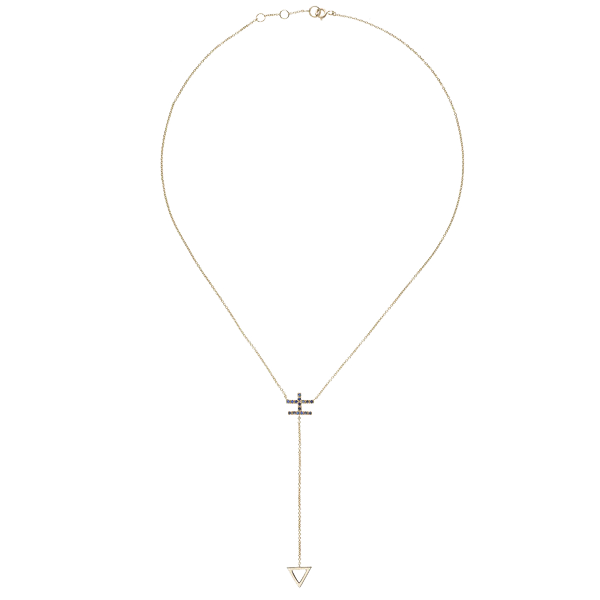 LUCK Y-SHAPED CHAIN NECKLACE YELLOW GOLD