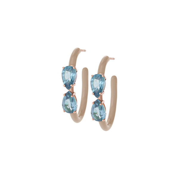 Drop Cut Vine Hoops in Pastels