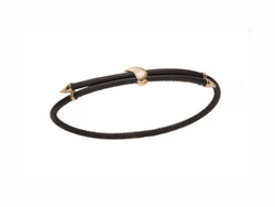 Heliconia Leather Bracelet Black