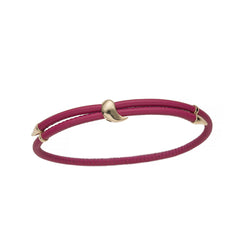 Heliconia Leather Bracelet Fuchsia