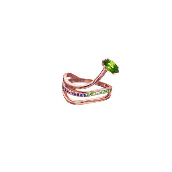 GLORIOSA LILY RING WITH PERIDOT