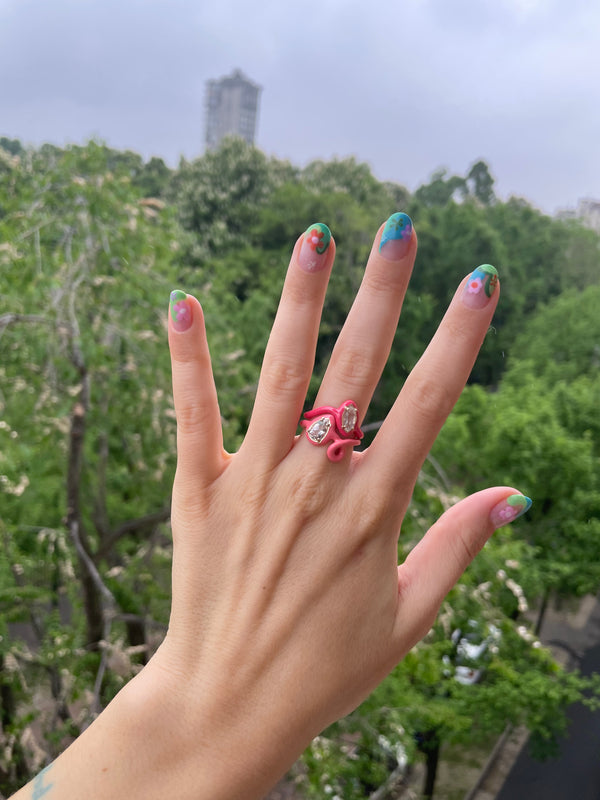 Can you Dig it? Yeah, Baby! Pink Stacking Rings