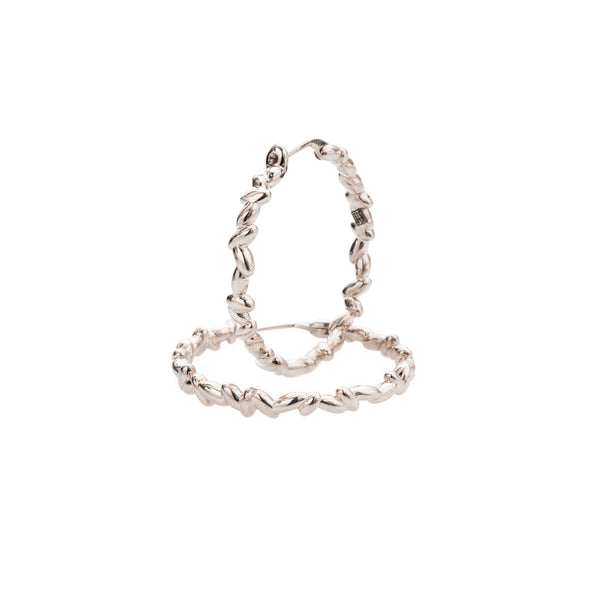 Medium Rice Hoop Earrings