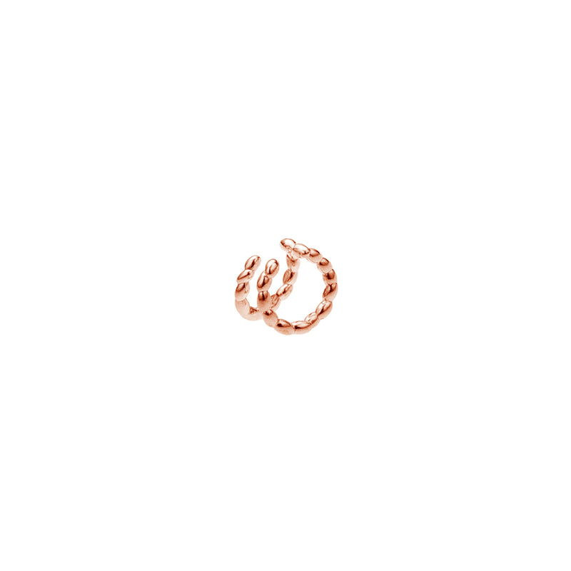 Silver Rose Gold Plated Rice Piercing