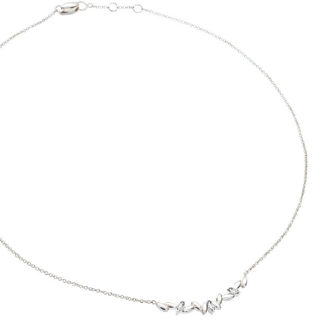 Silver Rice Necklace with Rock Crystal