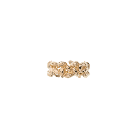 Medium Yellow Gold Rice Ring
