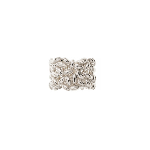 Large Silver Rice Ring