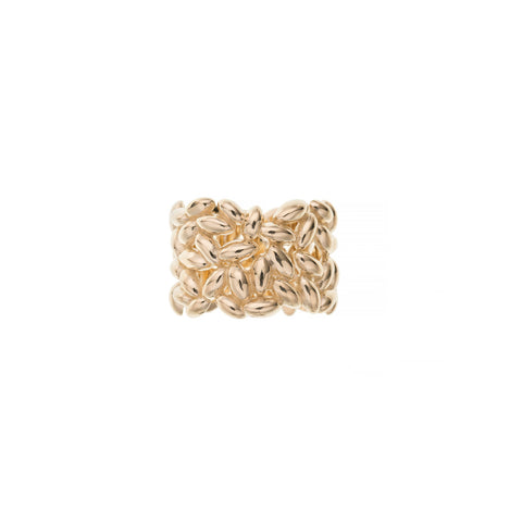 Large Gold Rice Ring