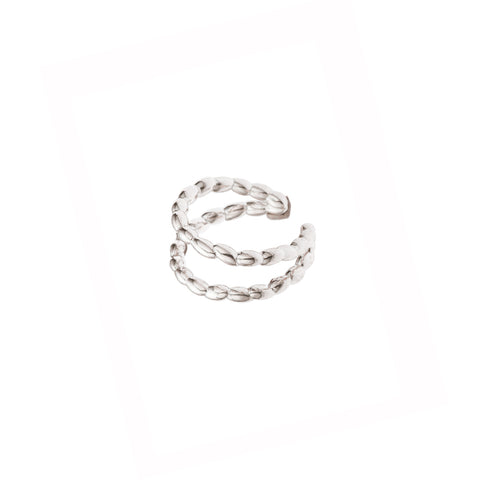 Silver Rice Open Ring