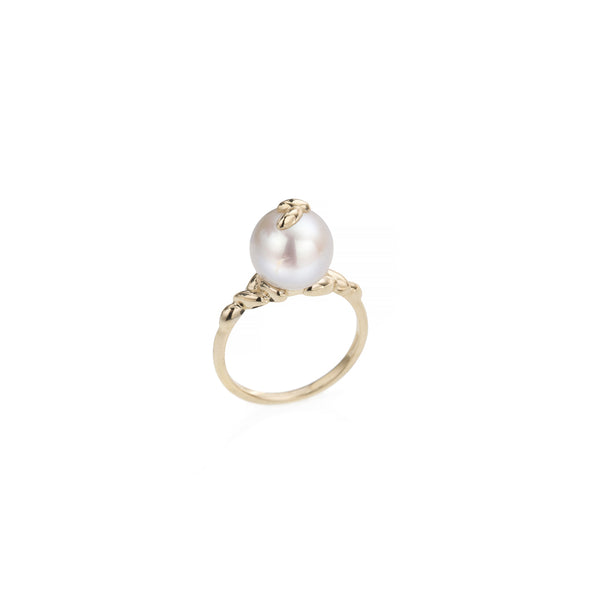 Gold Pearl Rice Ring